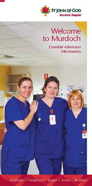 St John of God Hospital Murdoch – Welcome Guide for Patients